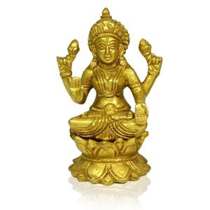 Brass laxmi Statue for Diwali, Home Decor-700-800 Gram Approx