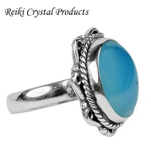 92.5 Silver Ring Gemstone Adjustable Silver Ring for Unisex