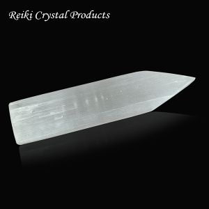 Natural Selenite Wand Flat Shape Crystal/Stone Tower -  6 Inch Long Approx