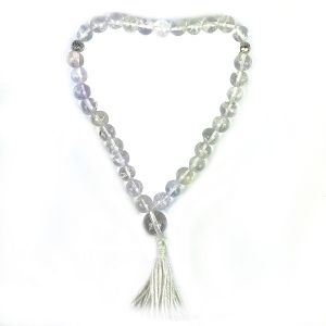 Tasbeeh  8 mm 33 Beads Jap Mala-Clear Quartz