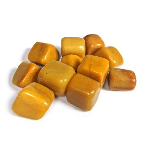 Natural Yellow Jasper Tumble Stones