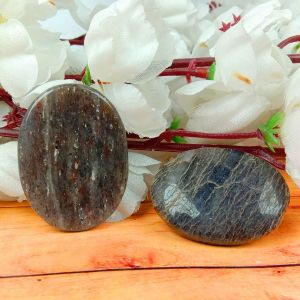 Blue Aventurine Worry Stone Palm Stone Crystal Cabochons Oval Shape for Reiki Healing and Crystal Healing Stone Pack of 2