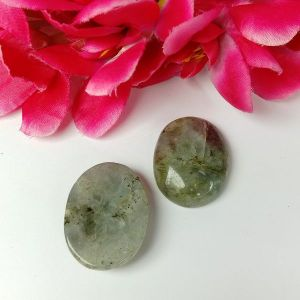 Labradorite Worry Stone Palm Stone Crystal Cabochons Oval Shape for Reiki Healing and Crystal Healing Stone Pack of 2