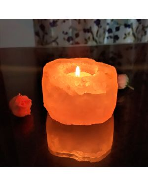 Himalayan Rock Salt Lamp Tea Light Candle Holder