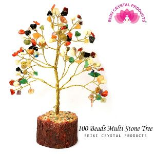Multi Stone  Chips Stones 100 Beads Crystal Tree