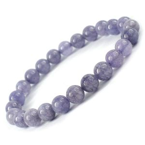 Angelite 8 mm Round Bead Bracelet