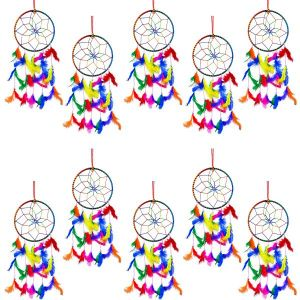 6 Inch Dream Catcher Wall Hanging for Positive Energy- Combo 10 pc