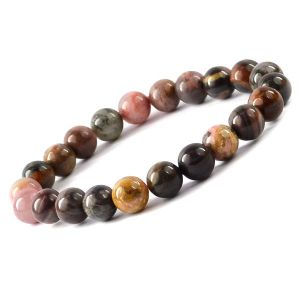 Rhodonite 8 mm Round Bead Bracelet