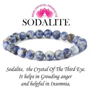 Sodalite Certified 8 mm Faceted Bead Bracelet