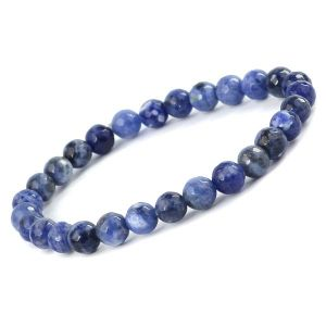 Sodalite 6 mm Diamond Cut Bracelet
