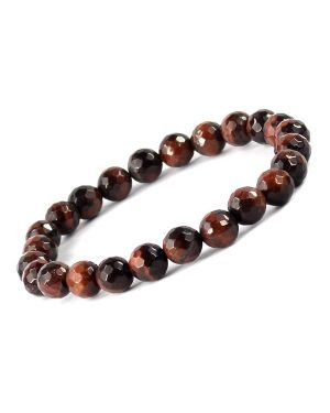 Tiger Eye Red 8 mm Faceted Bracelet