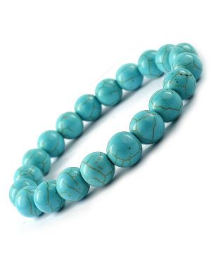 Tourquise (Syn) 8 mm Round Bead Bracelet