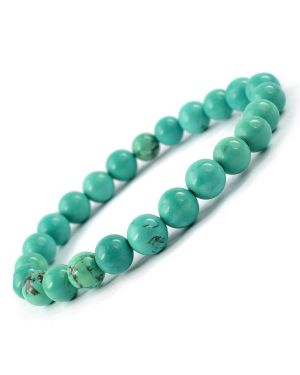 Tourquise Green 8 mm Round Bead Bracelet
