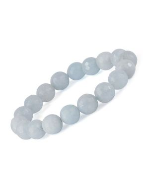 AAA Aquamarine 10 mm Faceted Bracelet