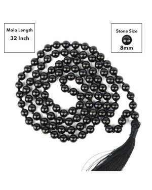 Black Onyx 8 mm 108 Round Bead Mala