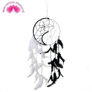 Yin Yang Dream Catcher Wall Hanging for Positive Energy, Thinking and Protections 45 x 15 cm Approx