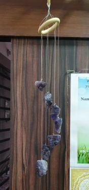 Amethyst Rough Raw Stones Wind Chime for Garden Home Decor