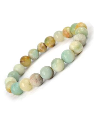 Amazonite 8 mm Round Bead Bracelet