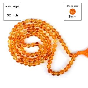 Citrine 8 mm 108 Round Bead Mala