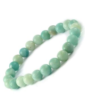AA Amazonite 8 mm Round Bead Bracelet