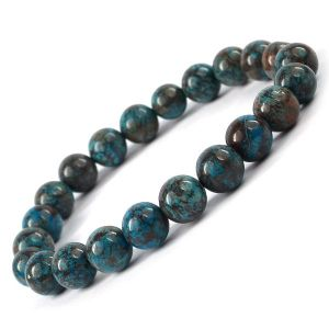 Crysocolla 8 mm Round Bead Bracelet