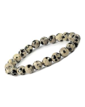 Dalmation Jasper 8 mm Faceted Bracelet