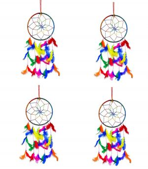 6 Inch Dream Catcher Wall Hanging for Positive Energy ( Combo 4 )