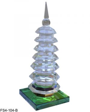Vastu / Feng Shui Crystal Glass Education Tower for Academic Success for Child's Study Table