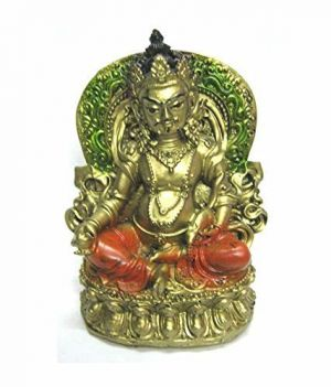 Reiki Crystal Products Porcelain Feng Shui Lord Kuber Idol (4.5 X 3 Inch)