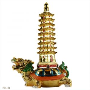 Vastu/Feng Shui Education/Tower on a Chinese Dragon Turtle/Tortoise for Academic Success for Home & Child's Study Table