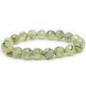 Epidote Faceted 10 mm Bracelet