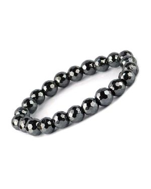 Hematite Hexagon 10 mm Faceted Bracelet