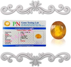 Natural Pukhraj Certified Gemstone