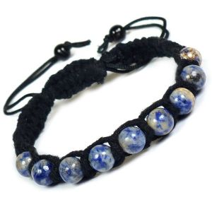 Sodalite Bracelet Reiki Bracelet for Love Reiki Bracelet Prosperity Crystal Bracelets for Healing Thread Bracelets for Women …