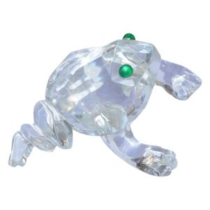 Vastu Feng Shui Glass Frog for Property, Wealth and Harmony