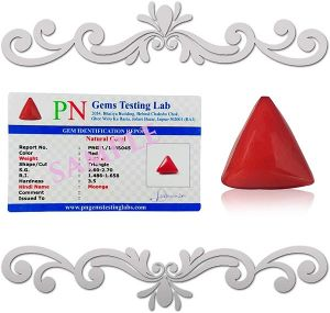 Natural Triangle Coral 4.25 Ratti - Carat Munga Certified