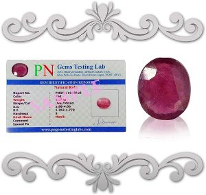 Natural Ruby Manik Certified Gemstone