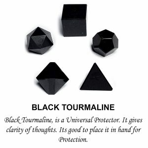 Black Tourmaline Geometry 5 Pc Set