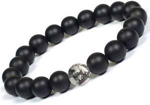 Onyx Bracelet with Howlite Bracelet 10 mm