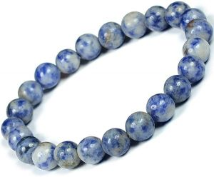 "Sodalite 8 mm Bracelet Natural ""Certified"" Stone Bracelet for Reiki Healing"