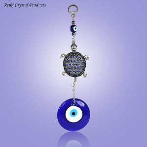 Evil Eye Turtle with Stone