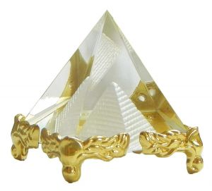 Vastu/Feng Shui Glass Crystal Pyramid for Positive Energy and Vastu Correction