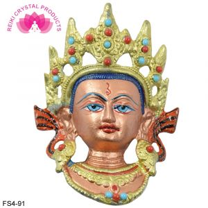 "Vastu/Feng Shui/Beautiful""Buddhist Goddess Tara"" Face Murti Idol Statue Sculpture Wall Hanging, Good Luck & Brings Prosperity"