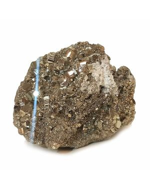 Natural AAA Pyrite Raw/Rough Cluster/Peru Pyrite  1.8 Kg Approx (Color : Golden)