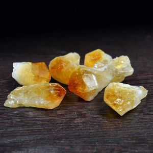 Natural Citrine Points Rough-100 Grm