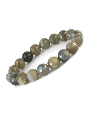AAA Labradorite 10 mm Faceted Bracelet