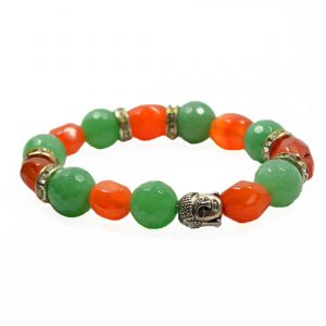 Green Aventurine With Carnelian Bracelet