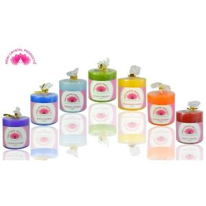 Energized Pillar Candles for Chakra Healing - Set of 7 candles