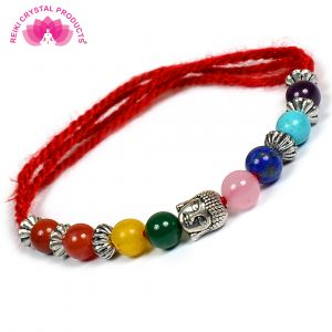 7 Chakra Thread Bracelet for Reiki & Crystal Healing