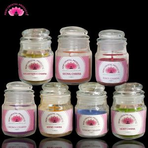 Energized Aroma Jar Candles by Reiki Grand Master for 7 Chakra Healing - 7 pc set